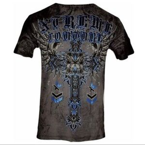 XTREME COUTURE by AFFLICTION Men T-Shirt IRONWORK
